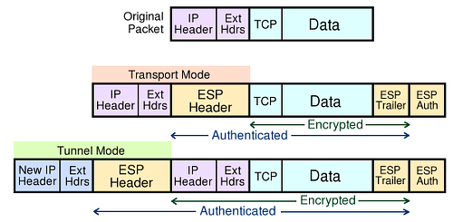 Encapsulating Security Payload Modes
